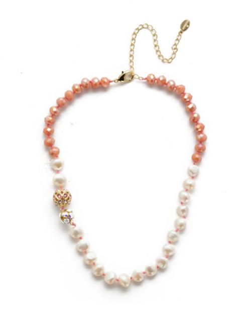 Sorrelli Island Sun Cailey Crystal Tennis Necklace~ NEF20BGISS