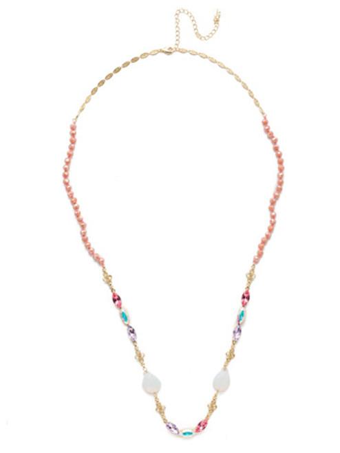 Sorrelli Island Sun Vitrine Long Crystal Necklace~ NEK13BGISS