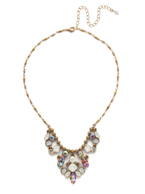Sorrelli Rocky Beach Crystal Necklace NEA23AGROB