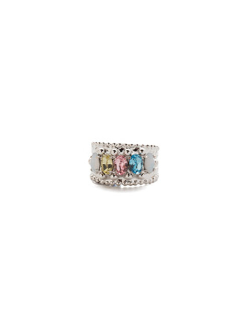 Sorrelli Seersucker- Crown Jewel Crystal Ring~ RDH2RHSSU