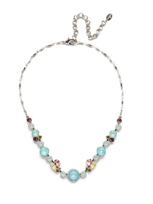 Sorrelli Seersucker Crystal Necklace NEH22RHSSU
