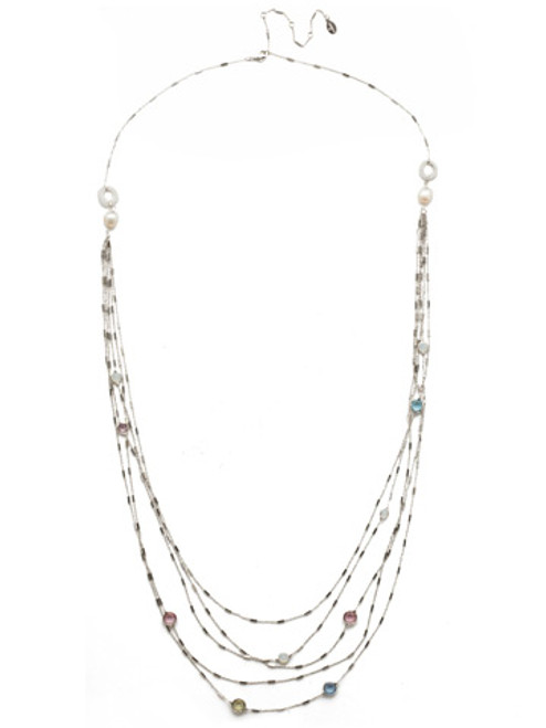 Sorrelli Seersucker Crystal Necklace~NEK2RHSSU