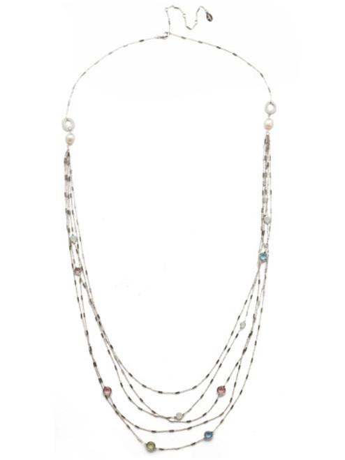 Sorrelli Seersucker Crystal Necklace NEK2RHSSU