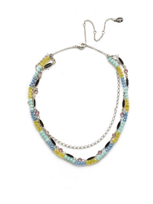 Sorrelli Seersucker Crystal Necklace~NEK35RHSSU