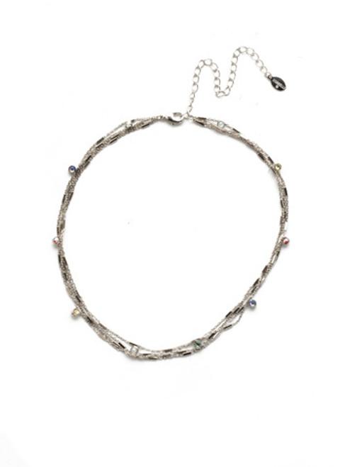 Sorrelli Seersucker Crystal Necklace~NEK22RHSSU