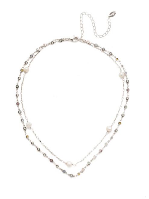 Sorrelli Seersucker Crystal Necklace~NEC10RHSSU