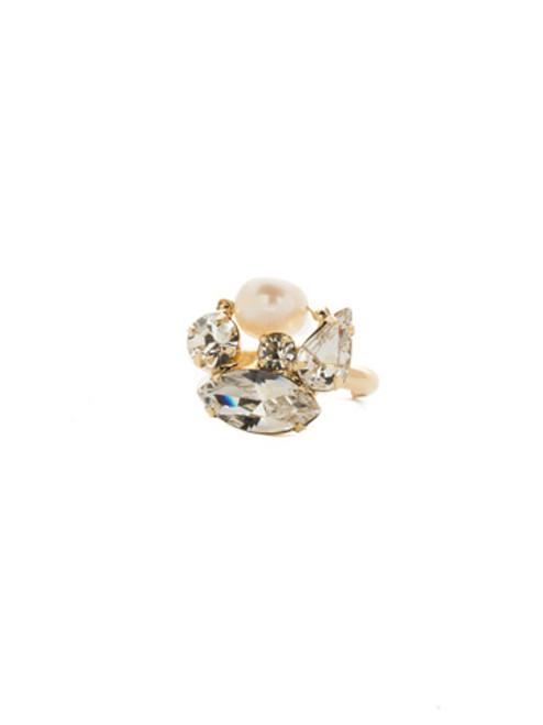 Sorrelli Modern Pearl- Easton Cocktail Ring~ REK18BGMDP