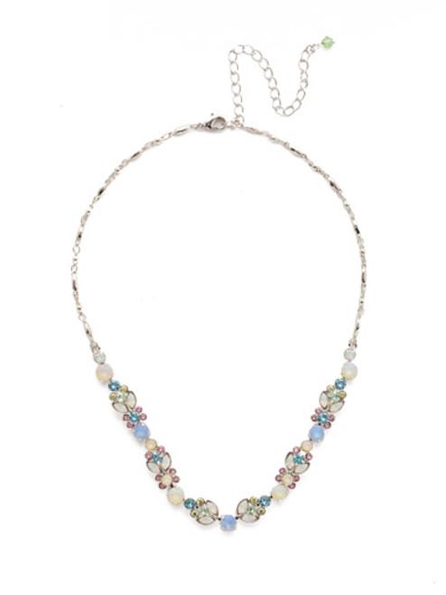 Sorrelli Seersucker Crystal Necklace NEA2RHSSU