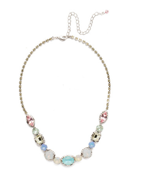 Sorrelli Seersucker Crystal Necklace NDX7RHSSU