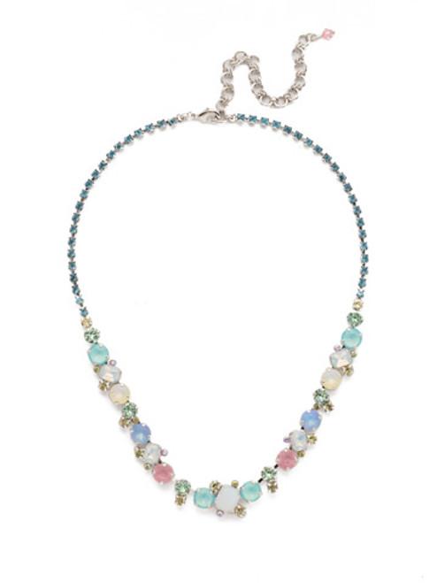 Sorrelli Seersucker Crystal Necklace NDK17RHSSU