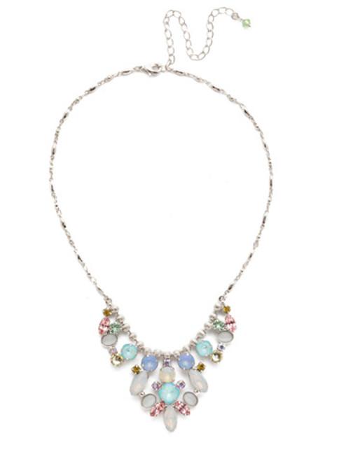Sorrelli Seersucker Crystal Necklace NEA23RHSSU