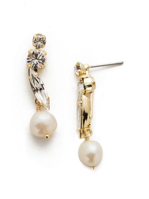 Sorrelli Modern Pearl - Lorraine Dangle Earring~ EEL44BGMDP