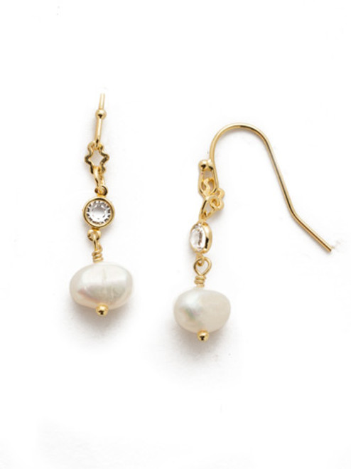 Sorrelli Modern Pearl- Pricilla Dangle Earring~ EEK27BGCRY