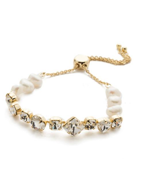 Sorrelli Modern Pearl- Carwyn Slider Bracelet~ BEK18BGMDP