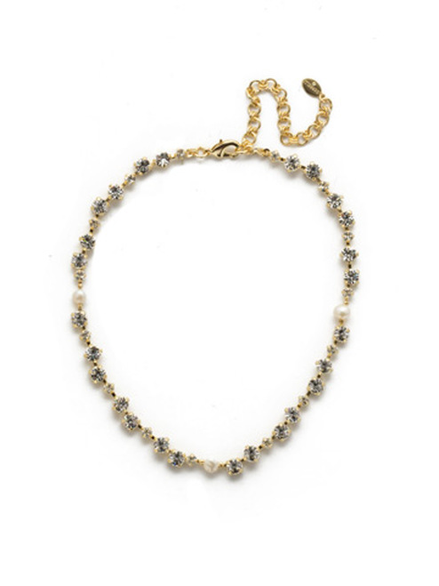 Sorrelli Modern Pearl- Giovanna Choker Style Necklace~ NEK25BGMDP