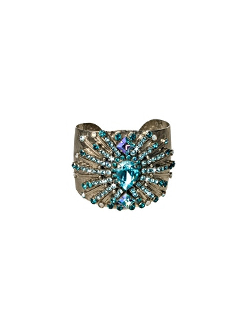 EMERALD COAST SPARKLING SPECTACLE CRYSTAL CUFF BY SORRELLI -BCQ15ASECO