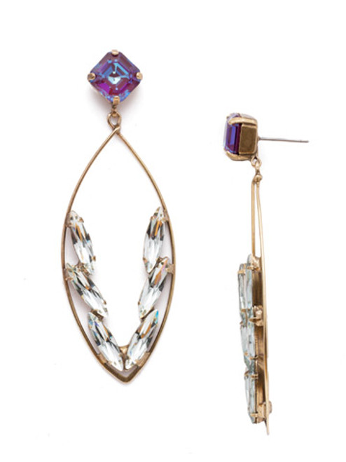 Sorrelli Iris Bloom Estelle Statement Earring 4EEN164AGIRB