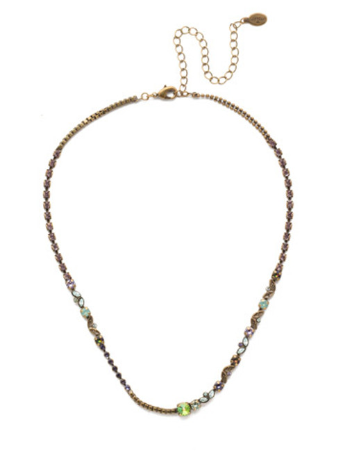 Sorrelli Iris Bloom Juliette Tennis Necklace NEN13AGIRB