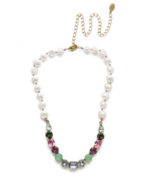 Sorrelli Iris Bloom Cadenza Necklace NEC14AGIRB