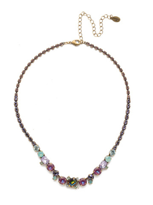 Sorrelli Iris Bloom Tinsley Statement Necklace NEN17AGIRB
