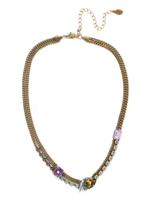 Sorrelli Iris Bloom Lexie Statement Necklace NEN8AGIRB