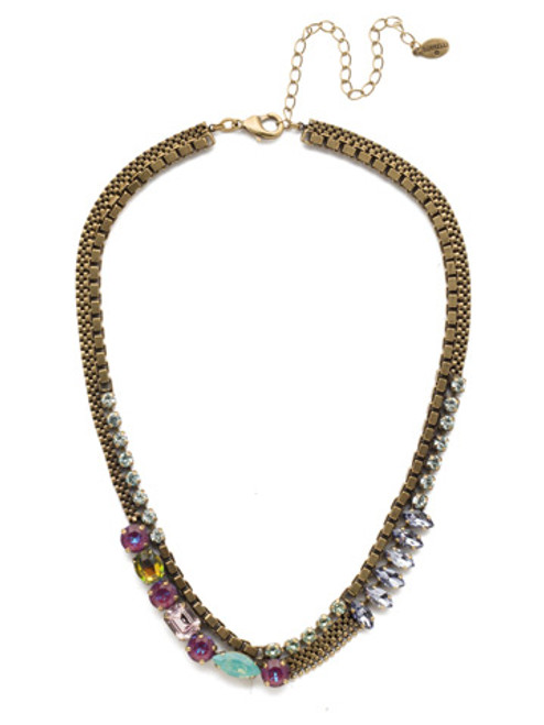 Sorrelli Iris Bloom Zelda Statement Necklace NEN9AGIRB