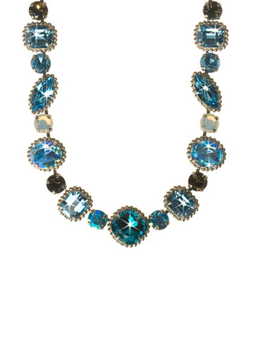 EMERALD COAST CRYSTAL NECKLACE BY Sorrelli -NCP37ASECO