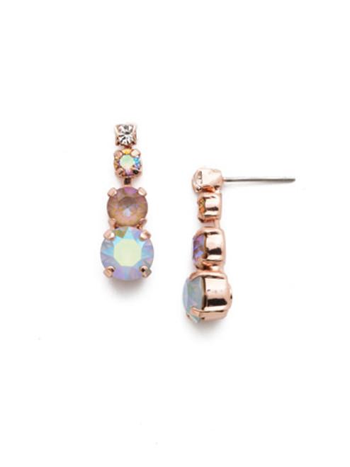 Sorrelli Rose Garden Descending Round Crystal Earrings~EDA14RGROG