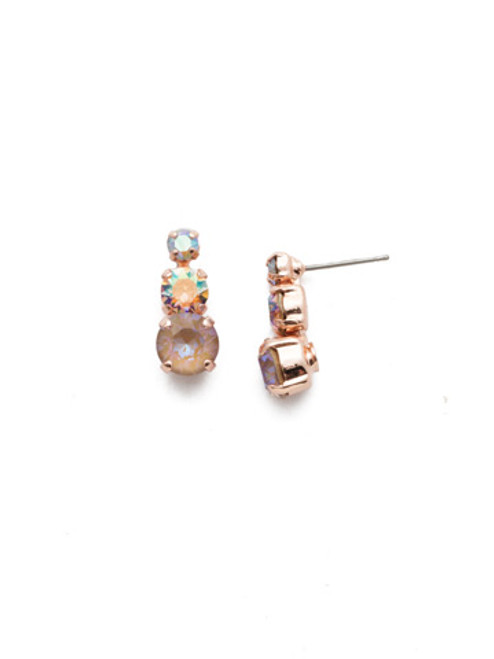 Sorrelli Rose Garden Madison Stud Earrings~EEN17RGROG
