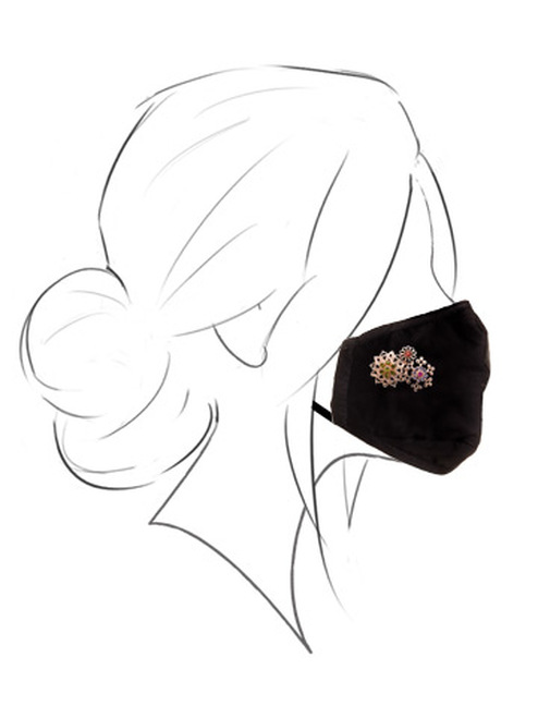 Sorrelli Gloria Face Covering with Magnetic Charm in Rose Gold Finish