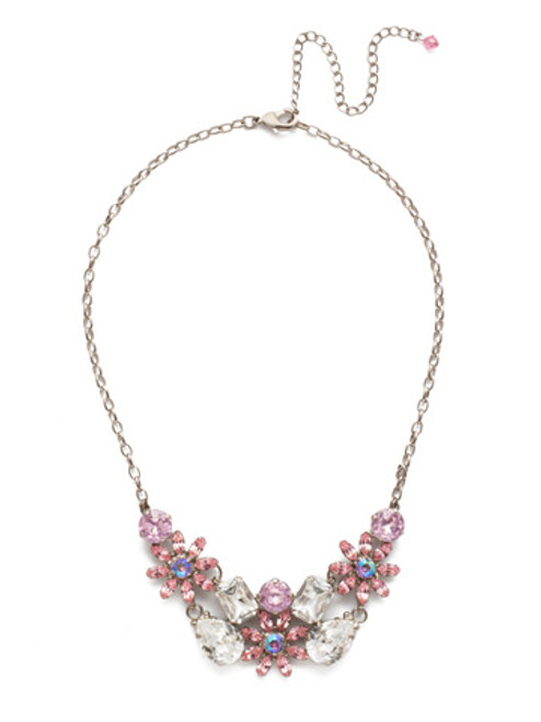 sorrelli misty pink alessia crystal necklace nea46asmp