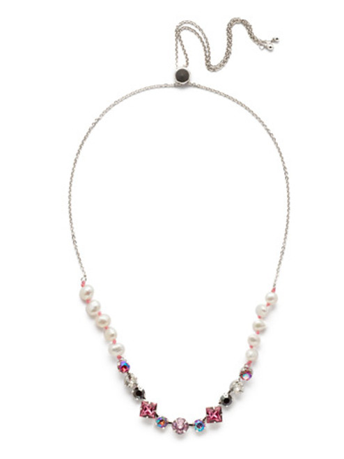 Sorrelli Apple Blossom Carwyn Classic Necklace NEK17RHAB