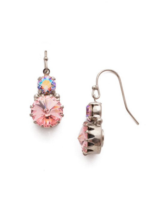 Sorrelli Misty Pink Adelina French Wire Earrings EEA9ASMP