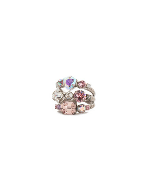 Sorrelli Misty Pink Sedge Stacked Ring RDX1ASMP