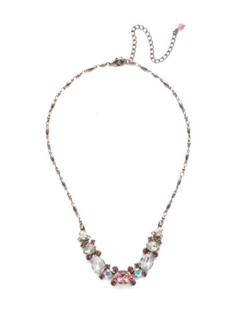 Sorrelli Misty Pink Laurel Necklace NDS49ASMP