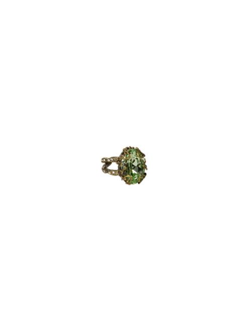 Sorrelli Sweet Dreams- Heirloom Oval Cut Crystal Ring~ RCF8AGSWD