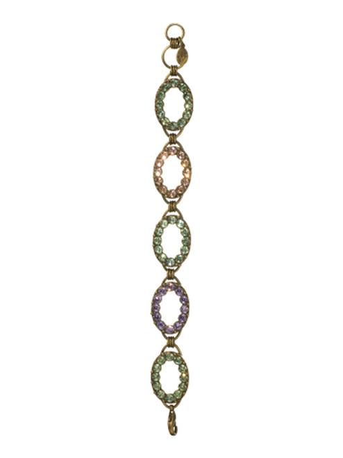 Sorrelli Sweet Dreams- Oval Crystal Link Bracelet~ BCC5AGSWD
