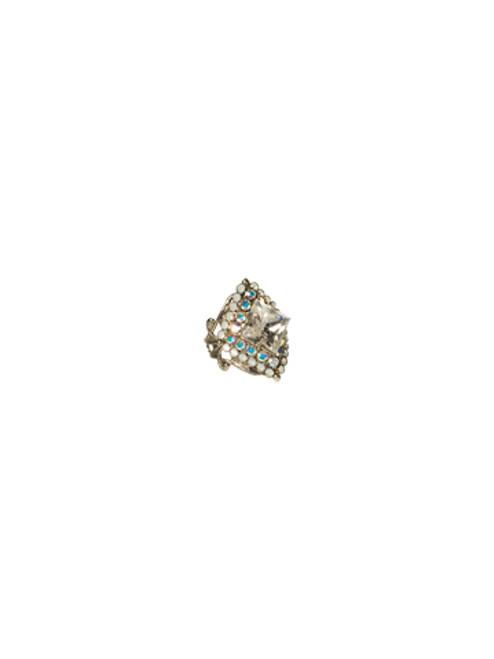 Sorrelli White Bridal Starburst Crystal Ring RCG11ASWBR