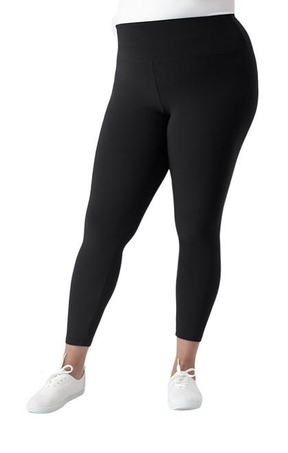 Nu Yoke Legging by Sympli~27218G~Plus Size-Black