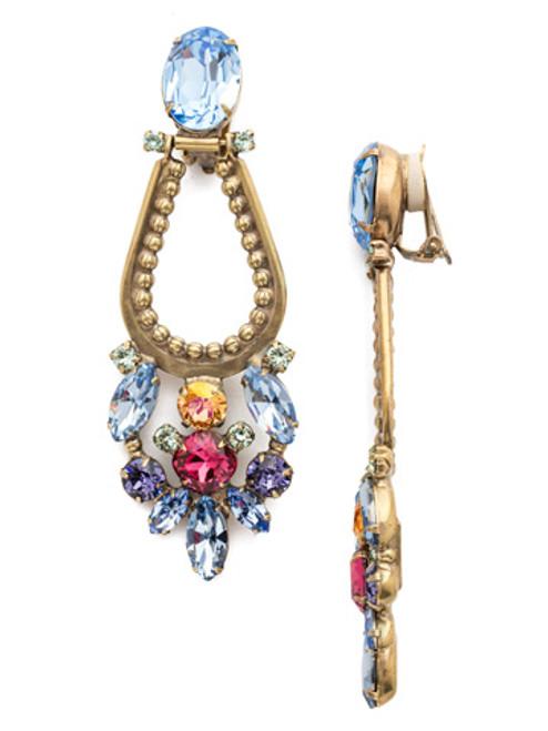 Sorrelli Bohemian Bright -Crystal Clip On Earrings~ EEA43CAGBHB