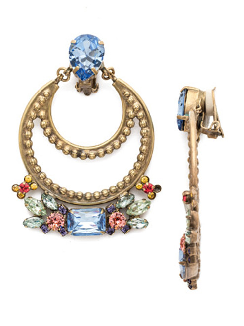 Sorrelli Bohemian Bright - Crystal Clip On Earrings~ EEA44CAGBHB