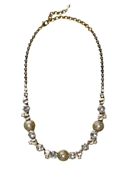 Sorrelli White Bridal Crystal Necklace~NCM16AGWBR