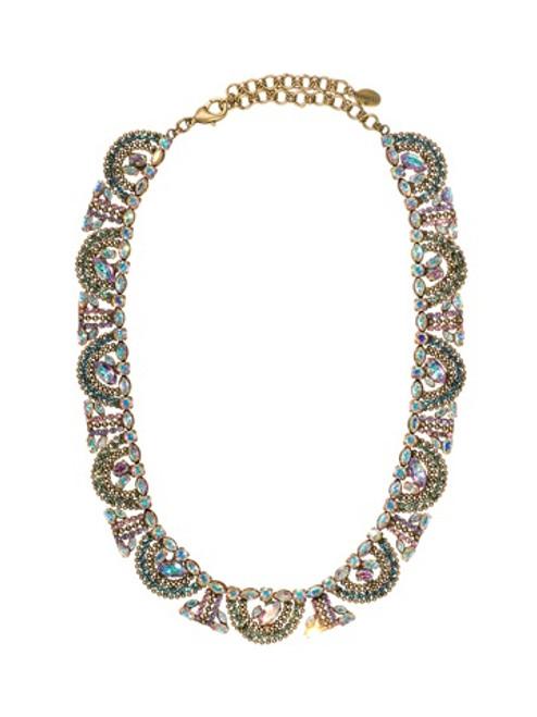 Sorrelli Smitten Crystal Mosaic Bib Necklace NBU10AGSMI