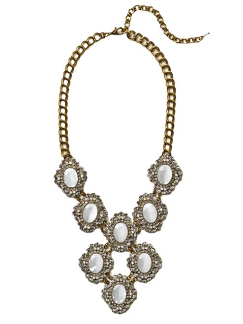 Sorrelli White Bridal Crystal Necklace~NCU28AGWBR