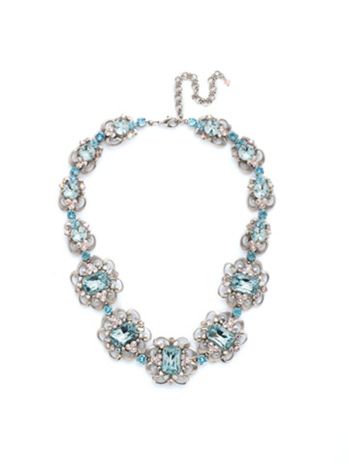 ky Blue Peach Crystal Necklace By Sorrelli~NCU39ASSKY