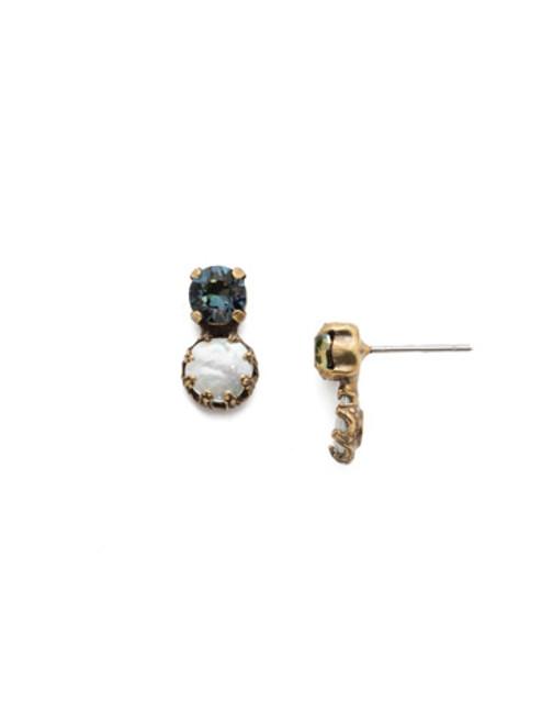 Sorrelli Selvedge Denim- Harttley Crystal Stud Earrings~ EEP3AGSDE
