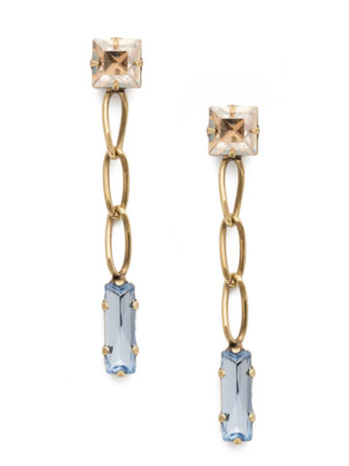Sorrelli Selvedge Denim Crystal Earrings EEP17AGSDE