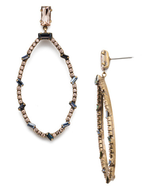 Sorrelli Selvedge Denim Crystal Earrings -EEP32AGSDE