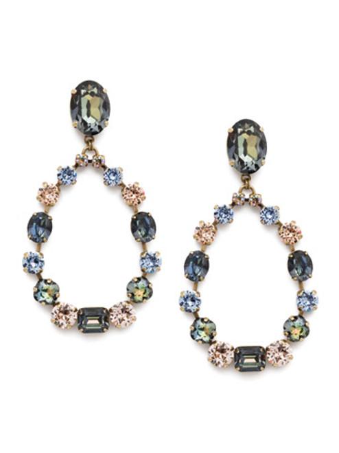 Sorrelli Selvedge Denim Crystal Earrings EEP50AGSDE