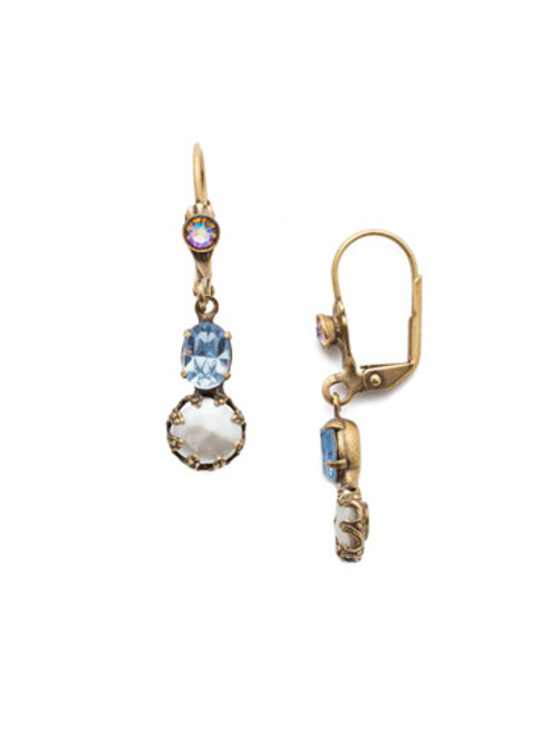 Sorrelli Selvedge Denim - Gracie Crystal Dangle Earrings~ EEP23AGSDE